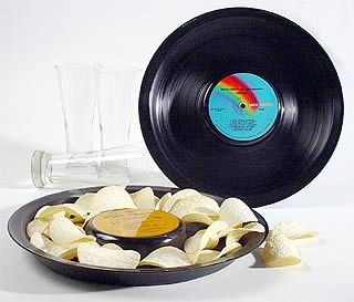 vinyl record snack tray