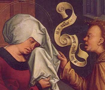 Bernhard Strigel: Saint Anne and Angel . Ego sum angelus domini at te missus