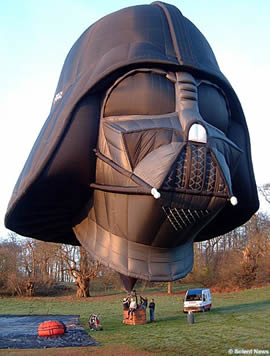 darth vader hot air baloon
