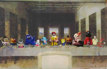 fast food last supper