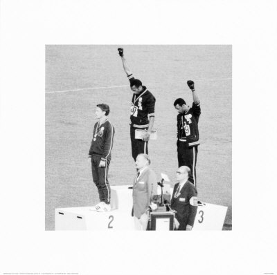 above photo is from the 1968 olympics in mexico. during the 200 meter gold medal ceremony the african american athletes tommie smith and john carlos performed their famous power to […]