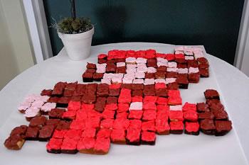 supermario pixel cupcake