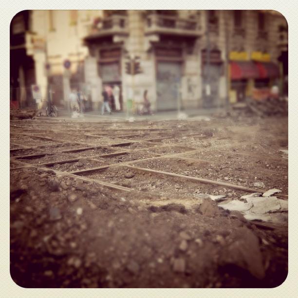 Bare Tram Rails Milano 2